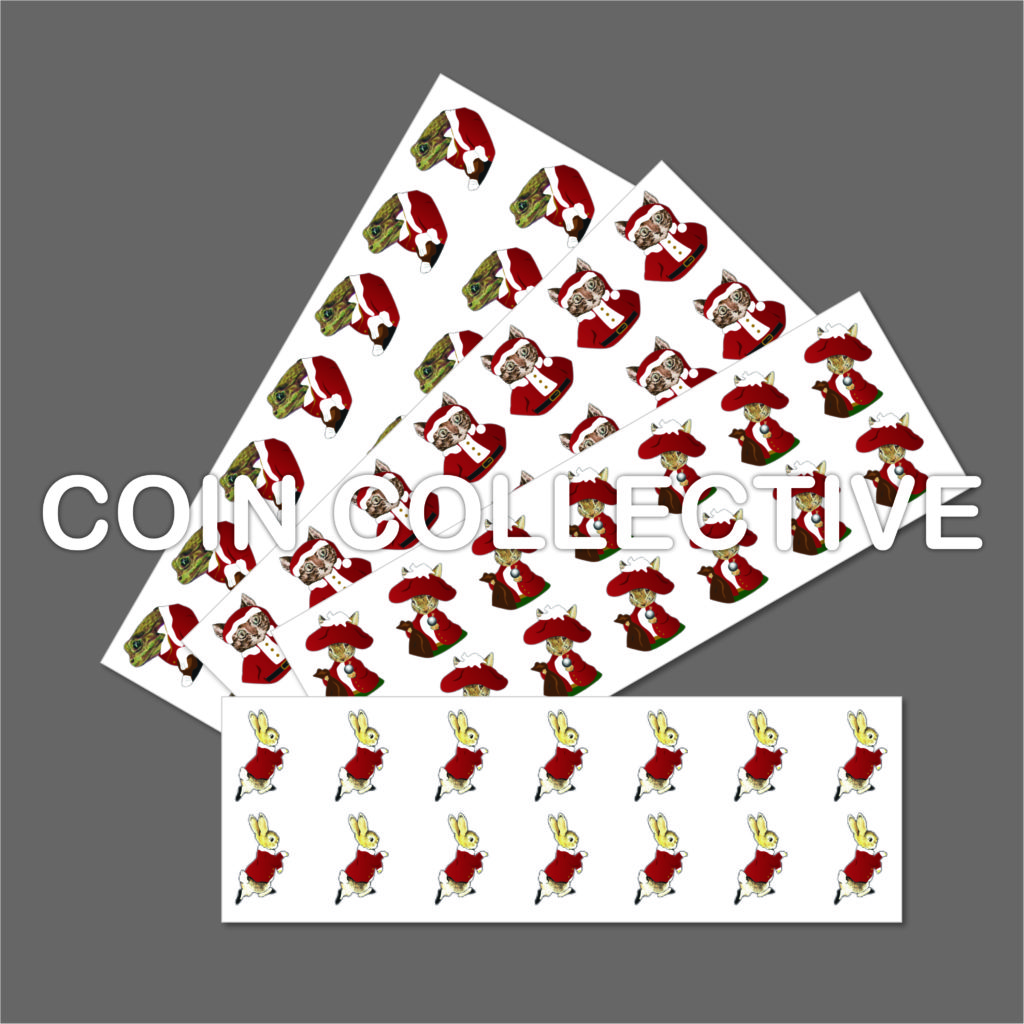 Beatrix Potter 2016 Christmas Decal Stickers 50p Bumper Pack